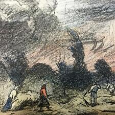 COLOR Lithograph ~ HUNGARIAN AVANT GARDE ~ c1920 IVANYI-GRUNWALD IMPRESSIONIST