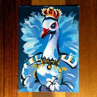 Original painting ACEO hand painted OOAK signed classic art ハクチョウ swan