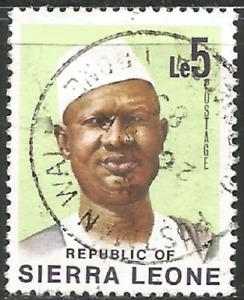 Sierra Leone Scott #435 SG #589 Used Le5 Siaka Stevens