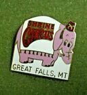 Shrine Circus Elephant Great Falls Montana Lapel Pin Masonic Freemasonry Shriner