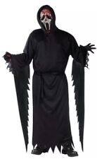 Scream 4 Large 10-12 Boy Halloween Costume Bleeding Ghost Face Robe Mask Gloves