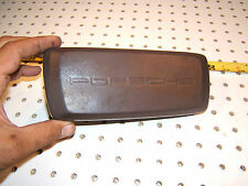 Porsche MED 944 Dash Steering wheel Center BROWN Leather wrapped Horn OEM 1 Pad