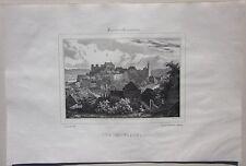 1838 BOURBON ARCHAMBAULT litografia Deroy Allier Desrosiers Moulins Bourbonnais