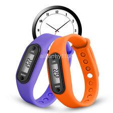 New Run Step Walk Watch Bracelet Pedometer Waterproof LCD Distance Wrist Band AU