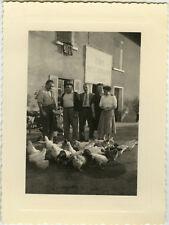 PHOTO ANCIENNE - VINTAGE SNAPSHOT - ANIMAL POULE CAFÉ RESTAURANT BARILLON