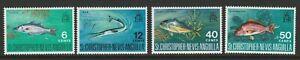 St Kitts-Nevis 1969 Fish set SG 195-198 Mnh.