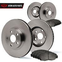 (Front + Rear) Rotors w/Metallic Pad OE Brakes (2005 2006 Honda CRV)