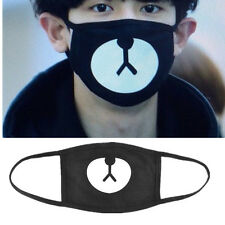 Men Women Cycling Anti-Dust Bear Cotton Mouth Face Mask Respirator Unisex Black