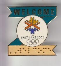 RARE PINS PIN'S .. OLYMPIQUE OLYMPIC SALT LAKE 2002 HANDICAP BRAILLE BIG 3D ~17