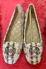 ORIGINAL MICHAEL KORS Lillie Moccasin Flat Shoe Embossed Leather Size 8.5