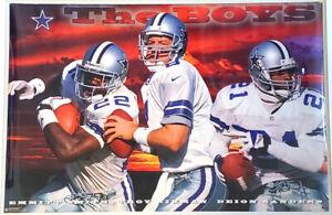 Dallas Cowboys THE BOYS (Aikman, Emmitt, Deion) 1996 23x35 Costacos POSTER