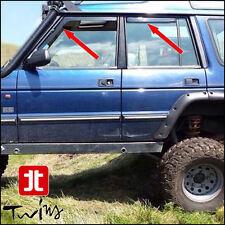 Set 4 Deflettori Aria Antiturbo Oscurati Land Rover Discovery I 1989-1998