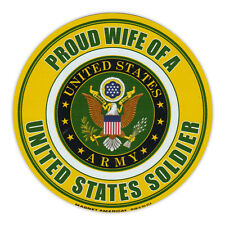 Round Magnet - Proud Wife of a Soldier - United States Army, Military