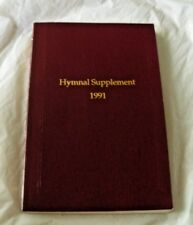 1991 HYMNAL SUPPLEMENT LUTHERAN CHURCH SERVICE BOOK/WOV CRANBERRY RED COLOR