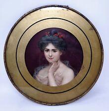 Antique Woman Portrait Flue Cover