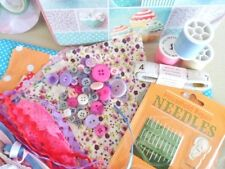 Children's Sewing Box & Supplies Patchwork Fabric Cushion Kit Included Gorgeous!