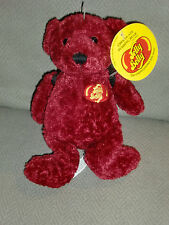 STUFFED PLUSH JELLYBELLY JELLY BELLY BEANS TEDDY BEAR CHOCOLATE PUDDING RED NEW