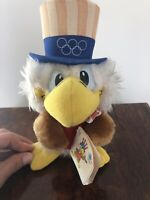 1980 Wallace Berrie LA Olympic Sam the Eagle Uncle Plush Doll 8250 w/ Tag