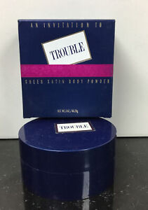 An Invitation To Trouble Sheer Satin Body Powder 3 oz by Revlon new boxed