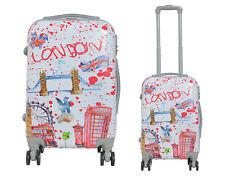 9e7b9fc74 Maleta de cabina rígida fantasia London blanca 4 ruedas dobles equipaje de  mano