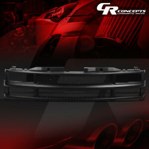 BLACK ABS FRONT BUMPER/HOOD MESH GRILL COVER FOR 94-00 CHEVY C/K/TAHOE/BLAZER