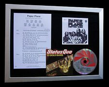 STATUS QUO Paper Plane LTD TOP QUALITY CD FRAMED DISPLAY+EXPRESS GLOBAL SHIPPING