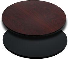 "Flash Furniture 24"" Round Table Top w/Black Or Mahogany Reversible Laminate Top"