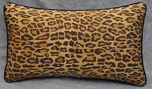 NEW Corded Pillow made w Ralph Lauren Venetian Leopard Animal Print Fabric 20x12