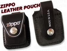 Zippo Leathr Pouch With Belt Loop Blk LPLBK ACCESSORIES