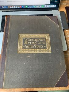 1884 - Descriptive Atlas of the United States - many full-color maps