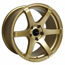 4 Enkei T6S Wheels Rims 17x8 5x100 45mm Gold