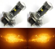 LED 30W H7 Orange Amber Two Bulbs Light DRL Daytime Lamp Replacement OE Fit