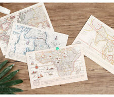 LOT 30 pcs Vintage Retro Postcards Hand Drawn Map Cards Bulk Set #75