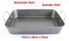 ROASTING TRAY COOKING BAKING NON STICK OBLONG OVEN TIN DISH GRILL NEW