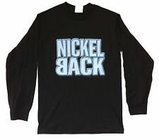 NICKELBACK SILVER SIDE UP EYE BLACK LONG SLEEVE SHIRT SMALL NEW OFFICIAL