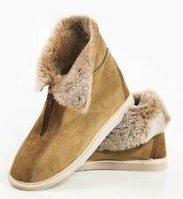 Luxury Womens Ladies Genuine Sheepskin Zip Boot Slippers, 100% Fur Line size 5 6