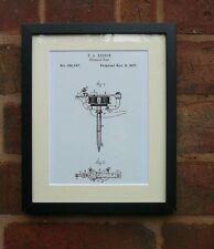 "USA Patent vintage TATTOO MACHINE PEN Edison Mounted Matted PRINT 10"" x 8"" 1877"