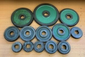 SHOP SOILED JOB LOT USED MYFORD GEARS 27 - 85 TOOTH FOR SUPER 7 ML7 LATHE