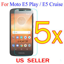 5x Clear LCD Screen Protector Guard Cover For Motorola Moto E5 Play / E5 Cruise