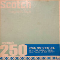 "Scotch 250 Mastering Reel to Reel Recording Tape, SP, 10"" Metal Reel, 2400 ft, R"