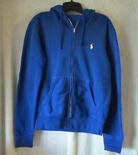 "Mens Ralph Lauren Classic Blue LS Hoody Hoodie Sweatshirt NWT $98.50 S 35.5"" SL"