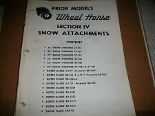 """wheel horse tractor SECTION IV SNOW ATTACHMENTS SEE PIC FOR CONTENTS  """"39"""" PAGES"""