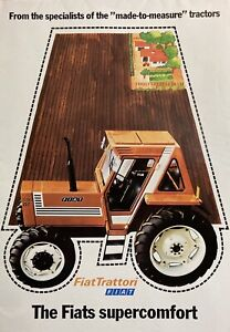 Fiat Tractor Brochure 580,680,780 and 880DT Super Poster Size