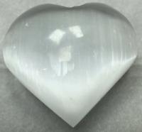 "3"" Selenite Heart Crystal Quartz Natural Stone"