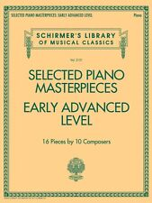 Selected Piano Masterpieces Early Advanced Schirmer's Library Of Music 050600825