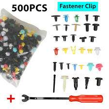 500Pcs Plastic Auto Body Push Pin Rivet Fastener Trim Moulding Clips Screwdriver