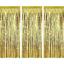 Gold Metallic Foil Fringe Door Curtain Party Wedding Decoration 1m X 2m