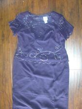 R&M Richards Formal Dress Mother of Bride Petites Womens 14WP 14W Dark Purple
