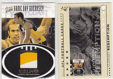 SELECT 2003 ULTRAGAME DAY GUERNSEY 3 COULOR PATCH OF CHRIS JUDD, NO.237/300