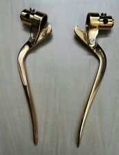 Custom Chopper Bobber Vintage Harley Brass Inverted Brake & Clutch Levers 1""